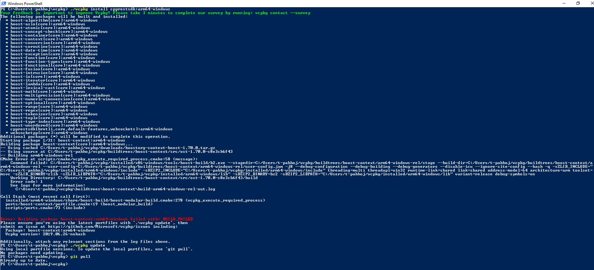 Failed to install cpprestsdk arm64-windows · Issue #7146