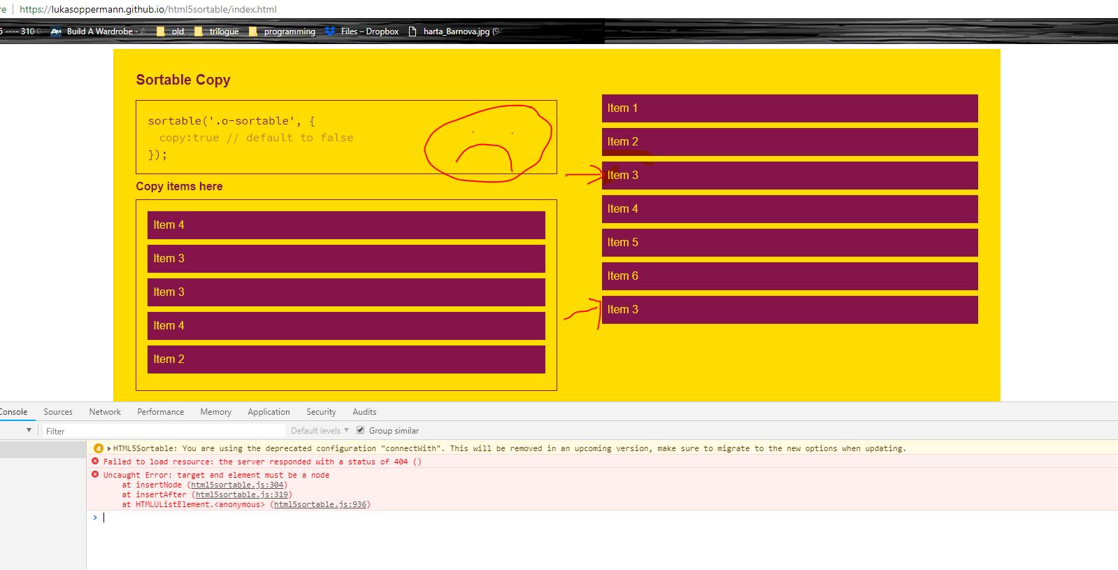 html5sortable - Bountysource