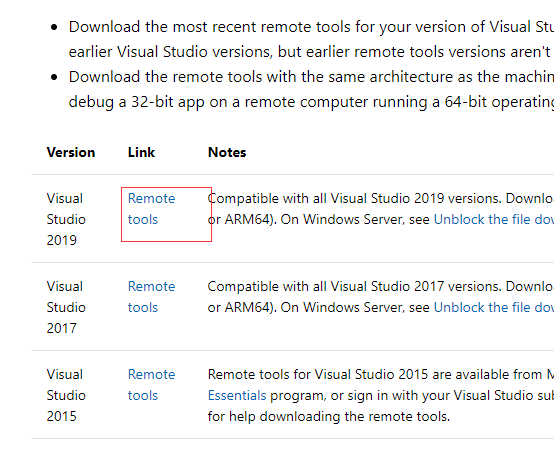 visualstudio remote tool download url error · Issue #127