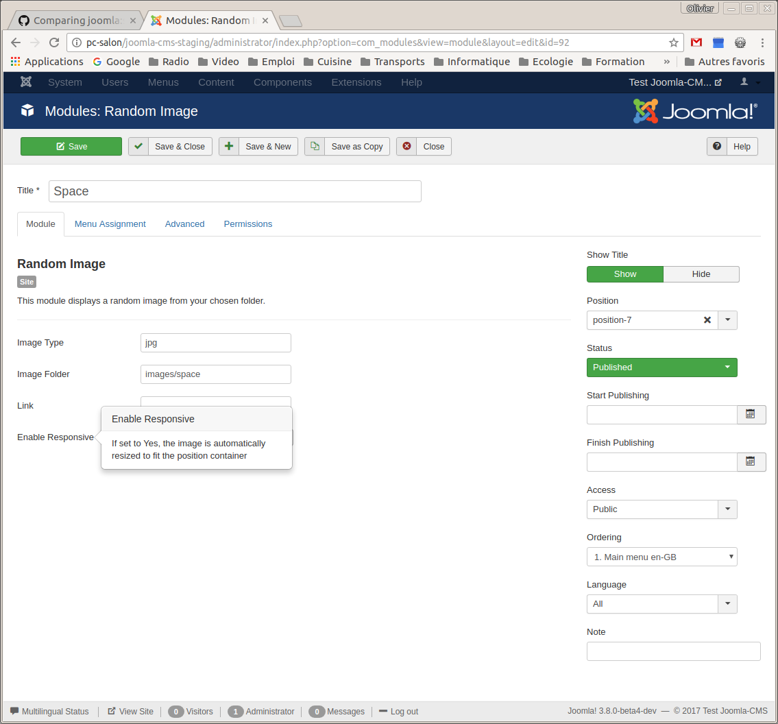 Joomla Issue Tracker Joomla Cms 17688 New Feature