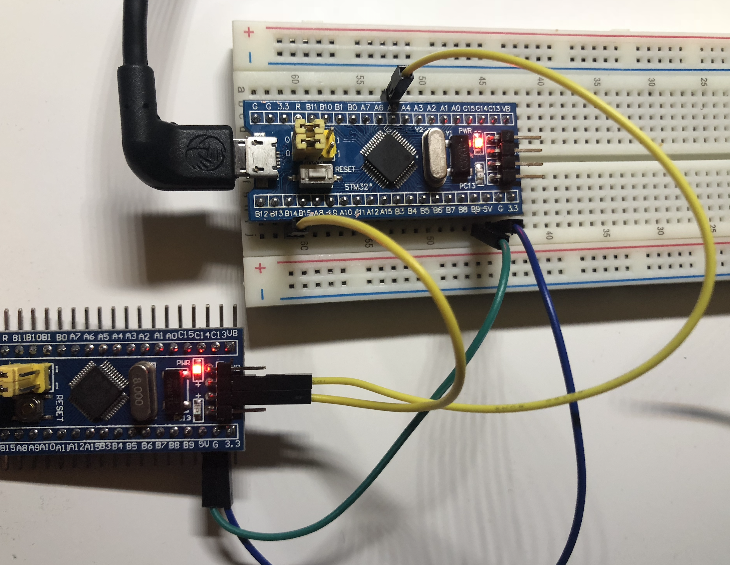 JTAG/SWD debugging via Black Magic Probe on an STM32 blue