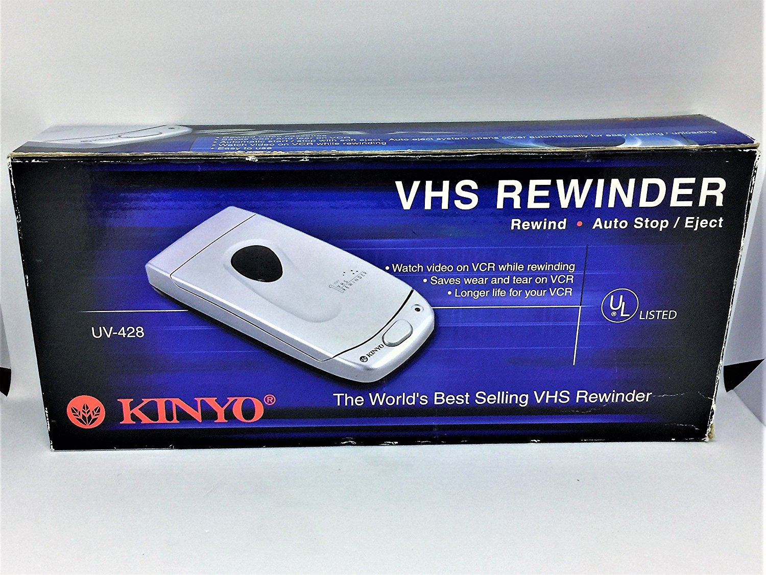 A blast from the past: Kinyo 1-way VHS Rewinder UV-428