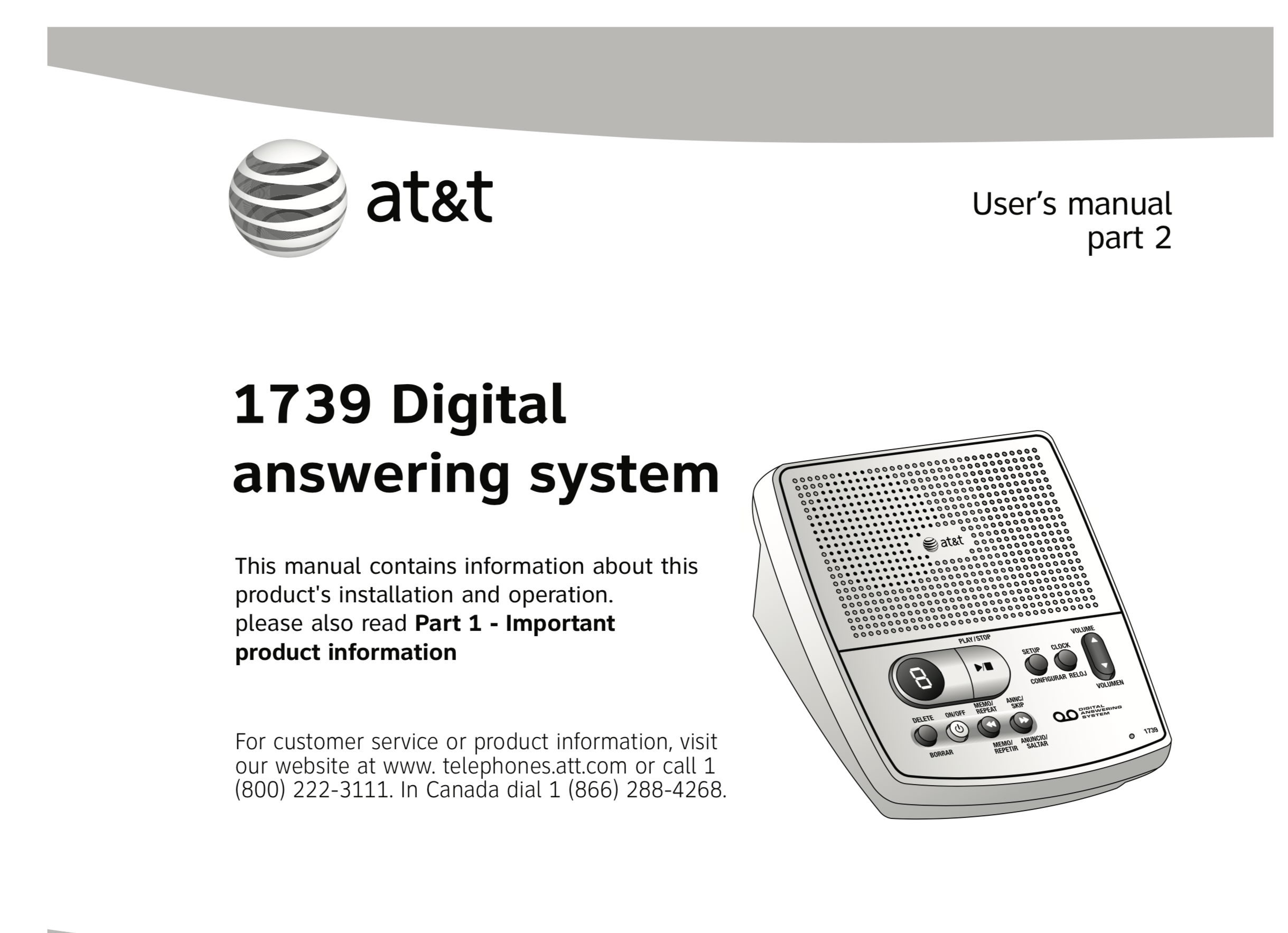 at t 1739 digital answering machine teardown and resuscitation rh satoshinm github io AT&T Phone Model 993 at&t model 1739 instructions