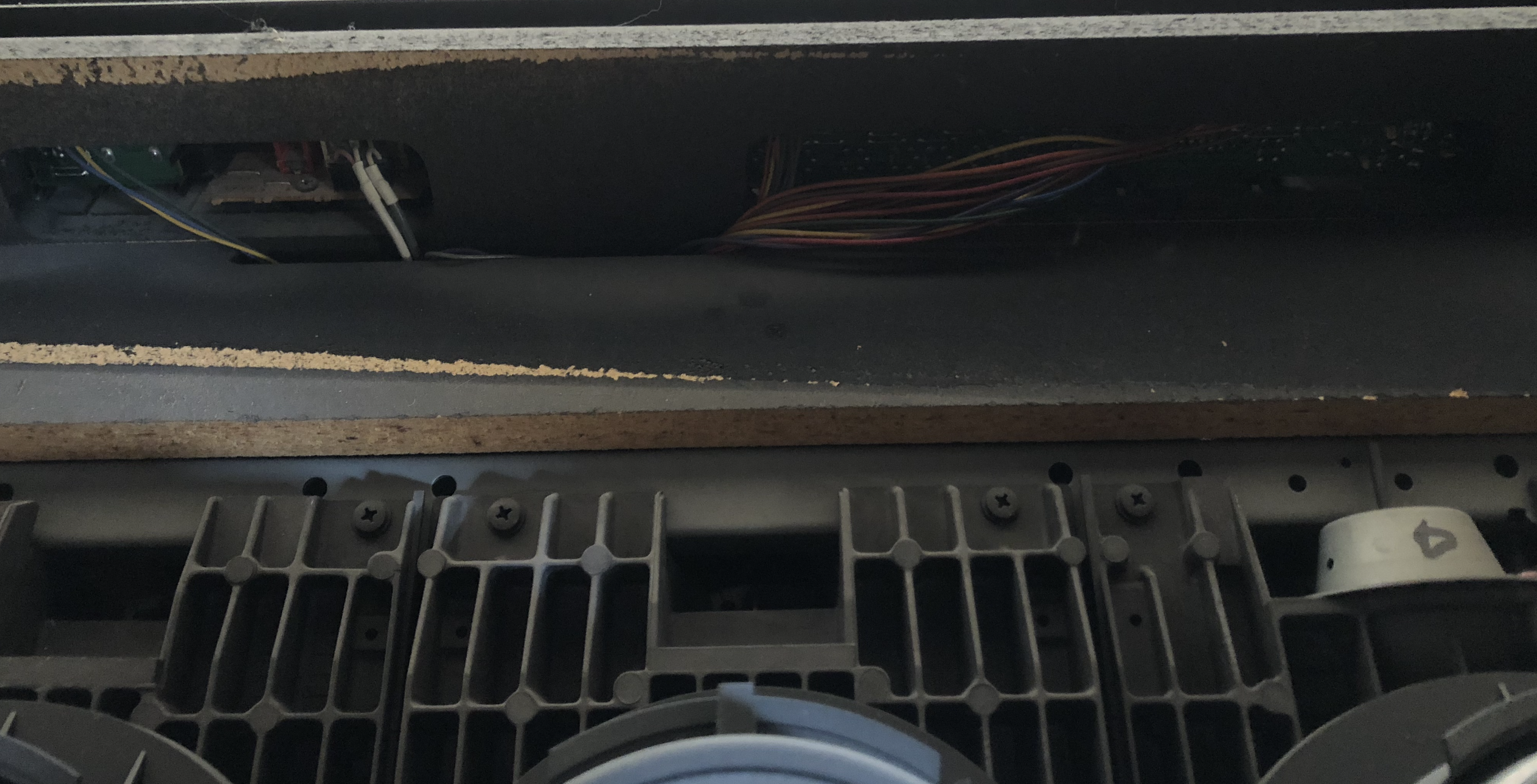 Front panel wiring
