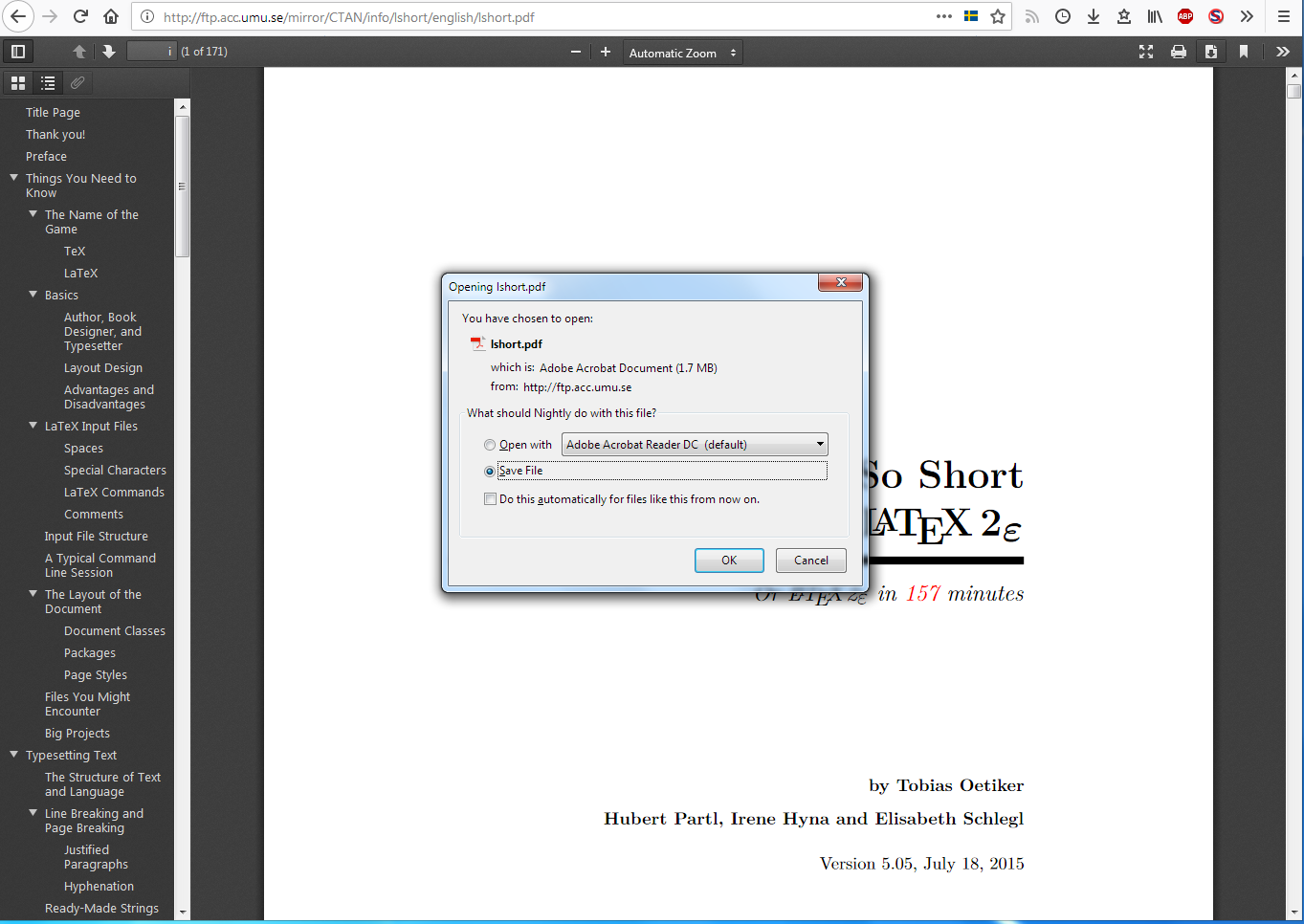 Feature request: 'Save as' option when downloading PDFs