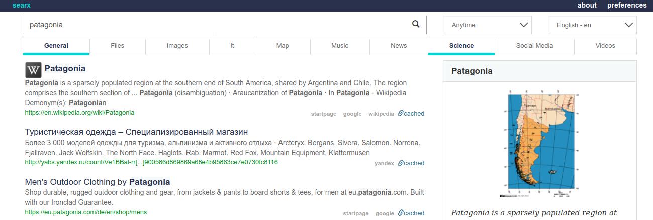 Screenshot_2020-02-08 patagonia - searx