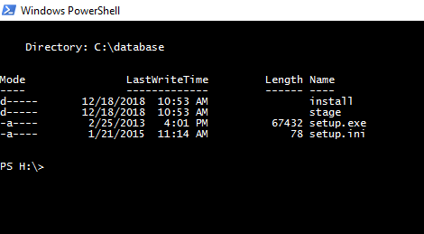 PowerShell dont find file setup of Oracle Client [WINDOWS] · Issue
