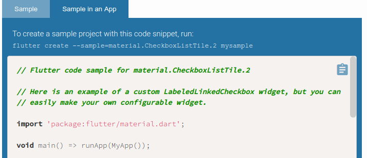 API docs snippet generation instructions could be more accessible