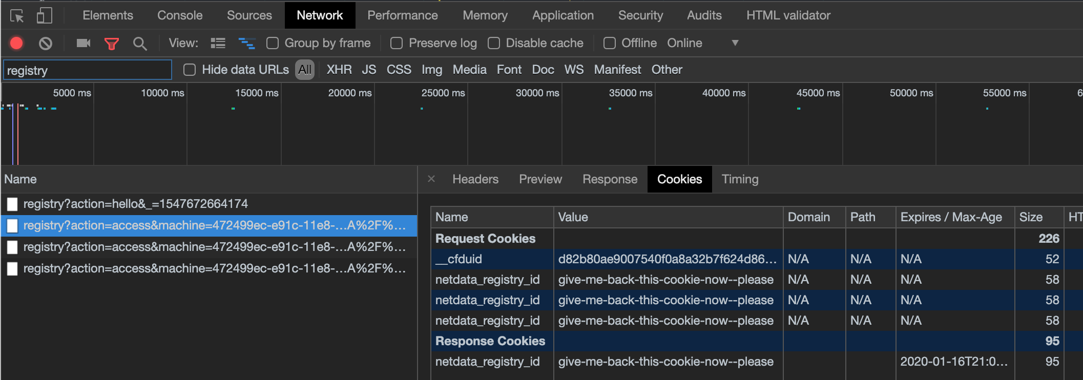 Netdata registry with basic auth (behind nginx proxy) results in