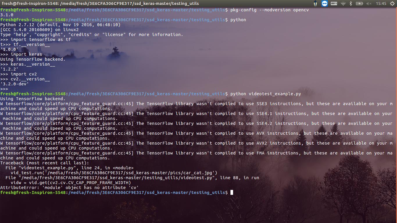AttributeError: 'module' object has no attribute 'cv