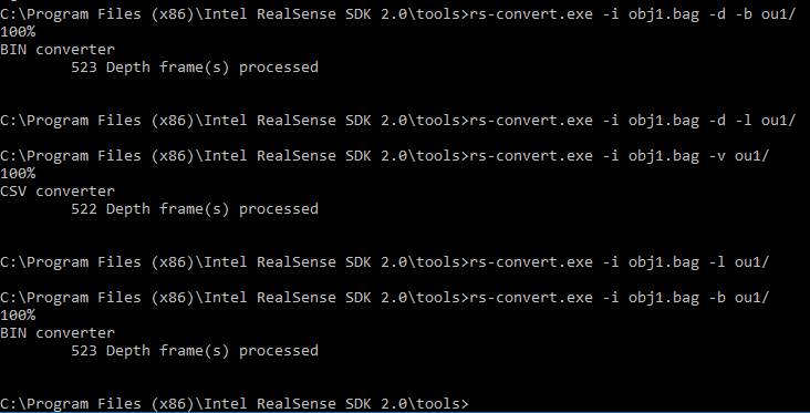 rs-convert unable to convert to PLY · Issue #3214