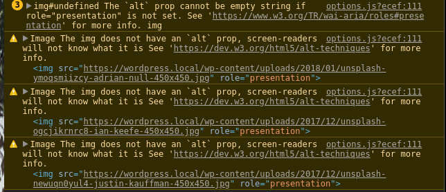 The `alt` prop cannot be empty string if role=