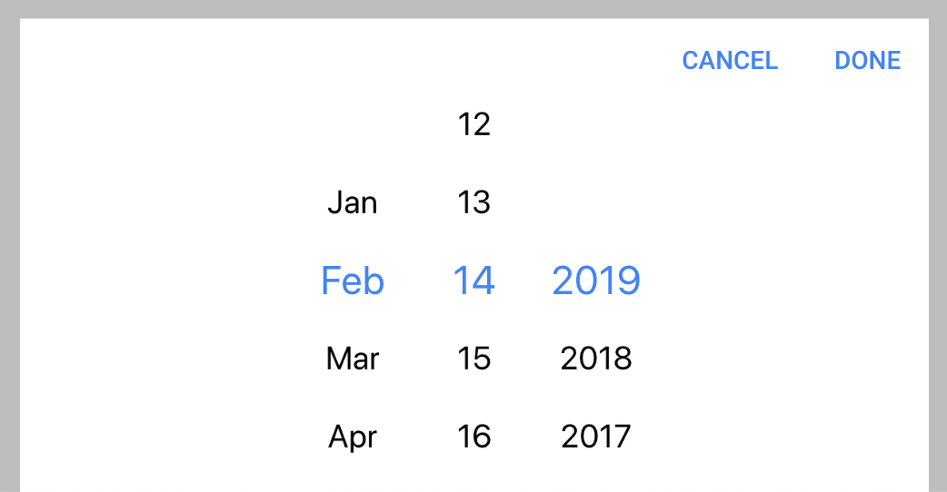 Ionic 4: DateTime - Start picker on today's date · Issue