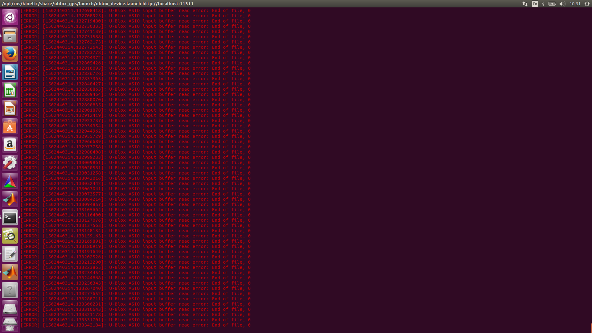 U-Blox ASIO input buffer read error: End of file, 0 · Issue