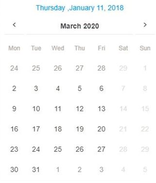 ngx-bootstrap Datepicker - Add currant date in header