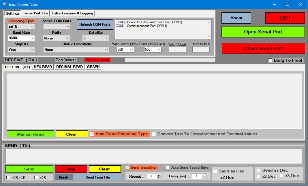 GitHub - PhilipMur/Serial-Comm-Tester: Serial Communications