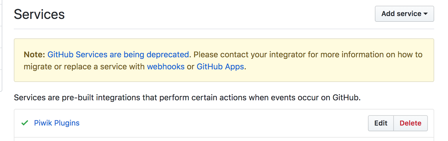 Replace our github service