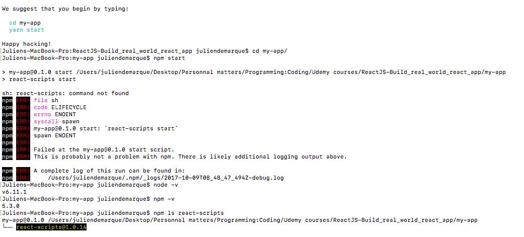 npm start fails: sh: react-scripts: command not found · Issue #3256