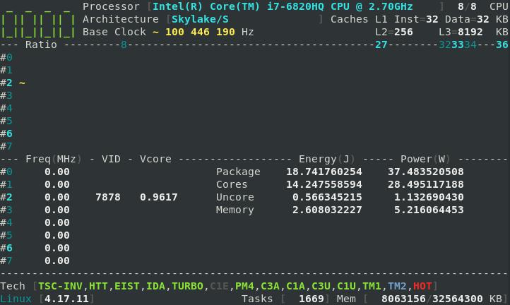 Intel(R) Core(TM) i7-6820HQ CPU @ 2 70GHz · Issue #71