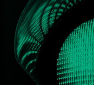 Abstract green traffic light