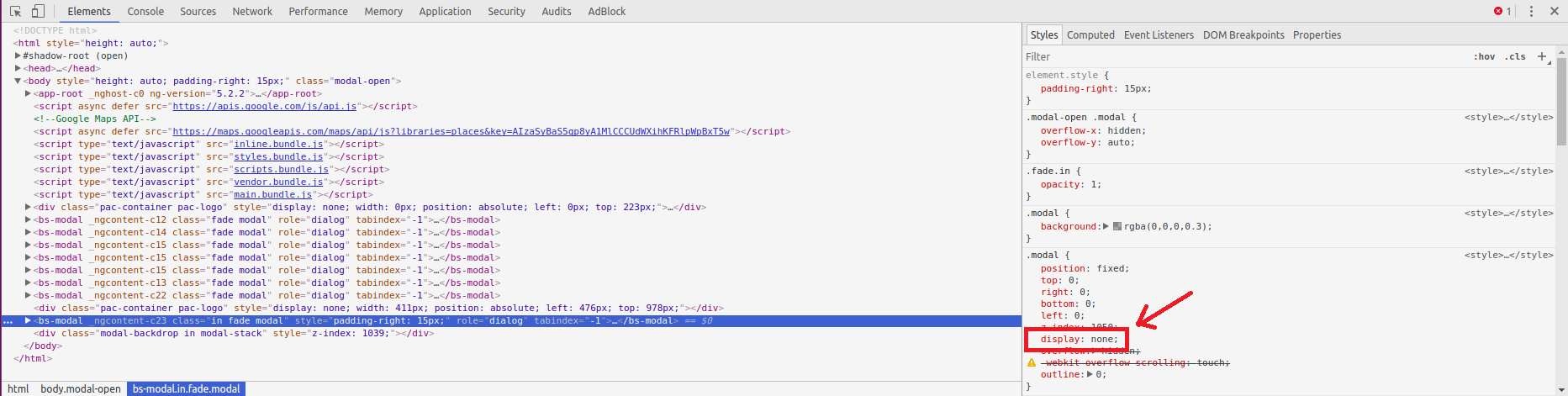 Javascript Disable Scrolling Behind Modal