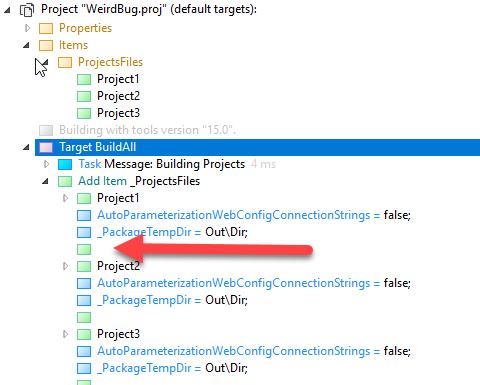 Text log format doesn't distinguish between item metadata