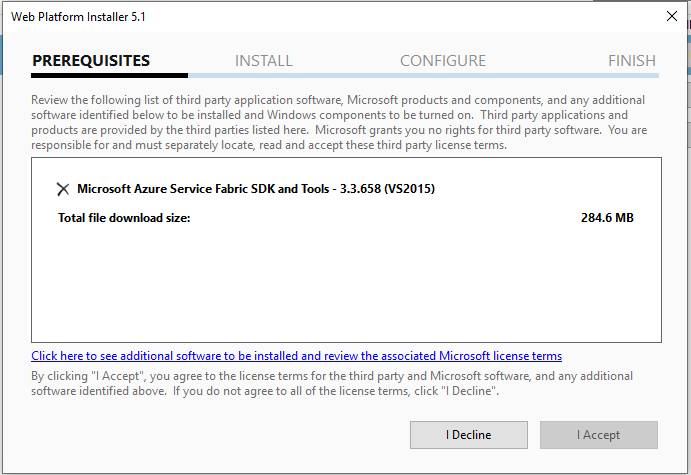 Cannot install Service Fabric SDK and Tools · Issue #30966