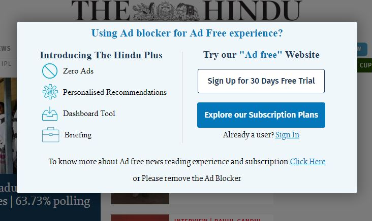 Could not bypass The independent/ The Hindu · Issue #172