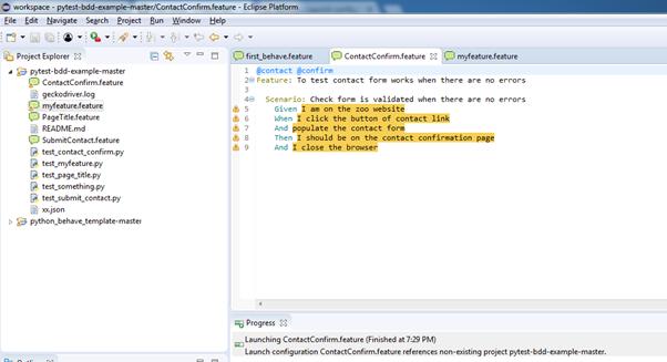 Error - Launch configuration ContactConfirm feature