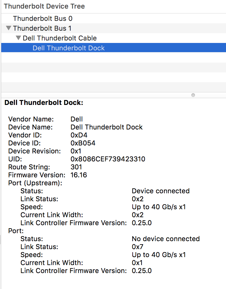 Dell TB16 dock features do not work on MacBook Pro 13