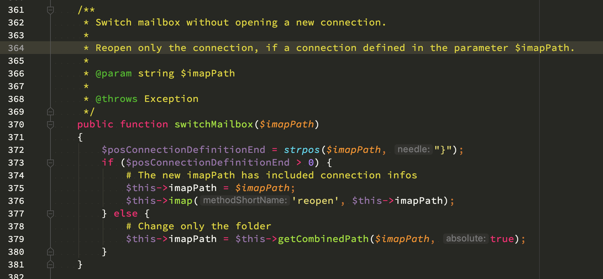 [DIAGRAM_4PO]  Use connection info in $this->imapPath by function · Issue #360 · barbushin/ php-imap · GitHub | Infos.php |  | GitHub