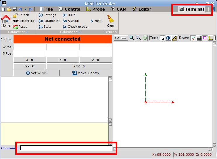 Can't get setup list on bCNC · Issue #1244 · vlachoudis/bCNC