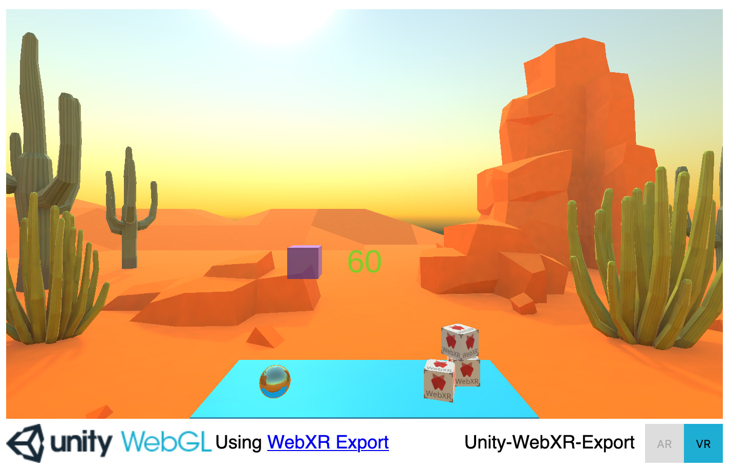 Image of unity webxr content