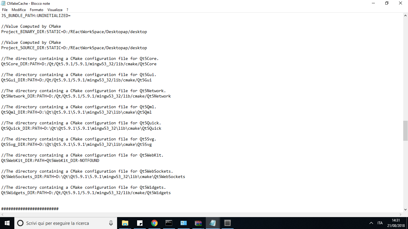 Qt5WebKit missing report in react-native run-desktop · Issue