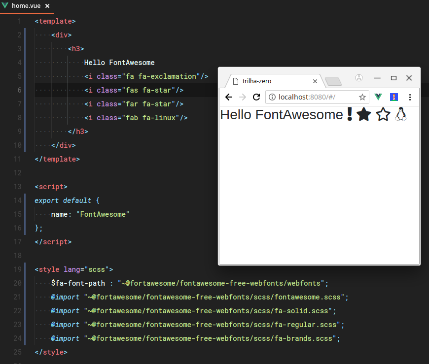 Problems importing font-awesome · Issue #1313 · vuejs