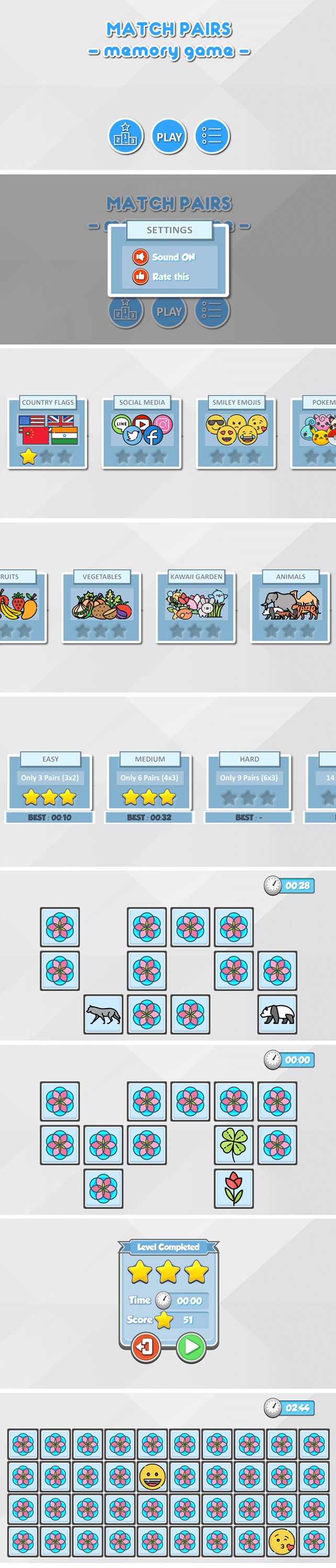 Match Pairs (Memory Game)