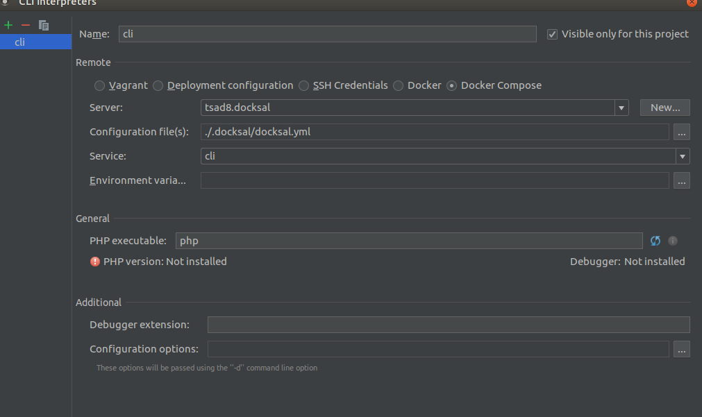 Interpreter not specified or invalid in PHPStorm for xdebug
