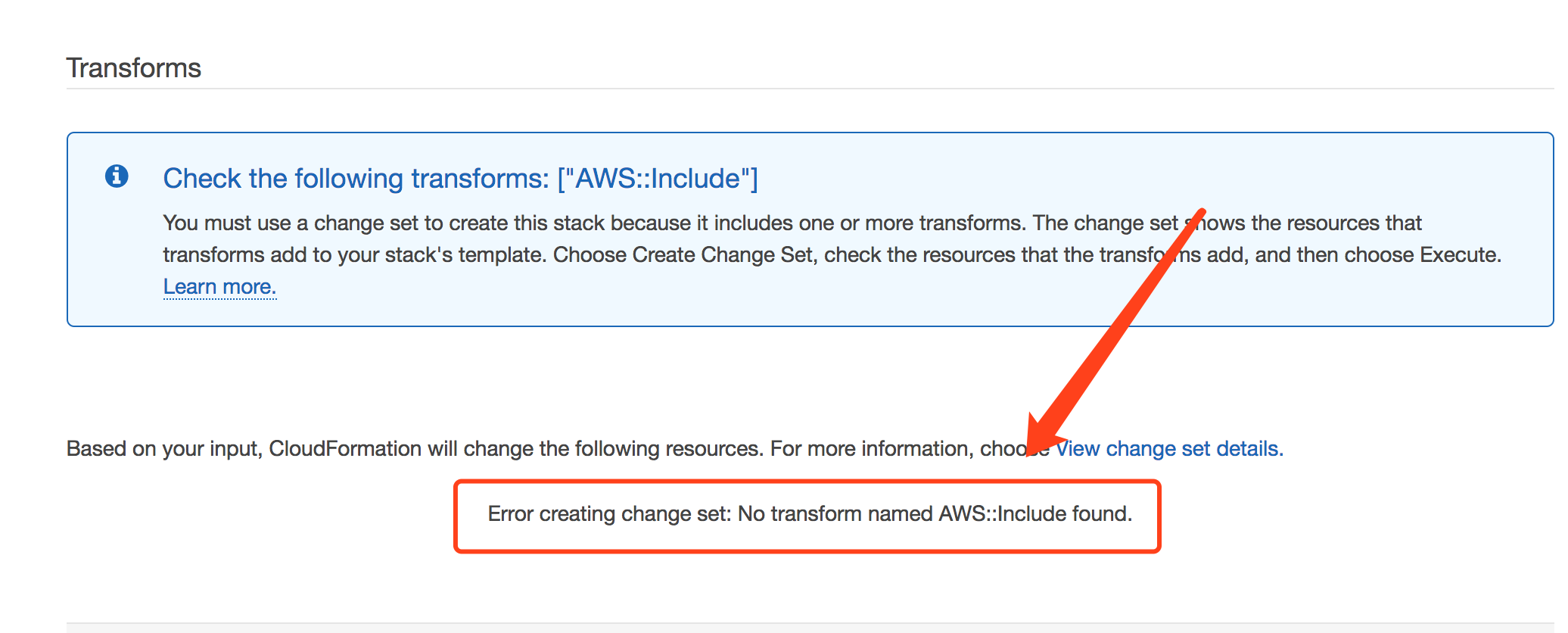 stockholm region cloudformation having issue with AWS