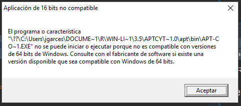 Windows version of APT not compatible · Issue #16