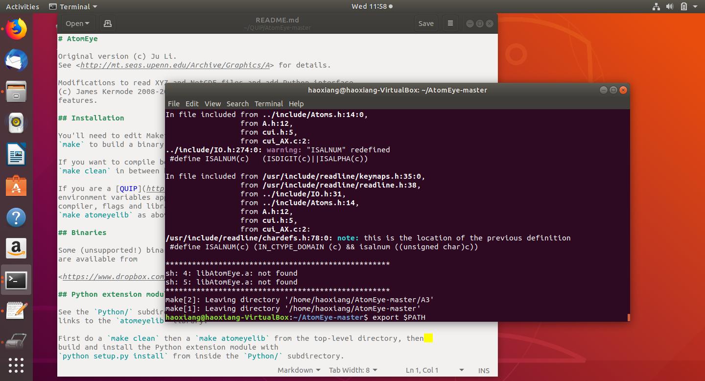 Beginner for installing QUIP + GAP in Ubuntu · Issue #120 · libAtoms
