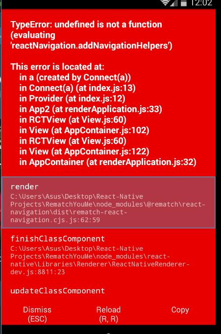 React Navigator Example Plugin Fail To Run · Issue #354 · rematch