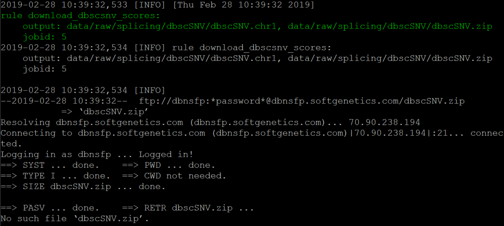 Has the link expired? I did not find the `dbscSNV zip `data file