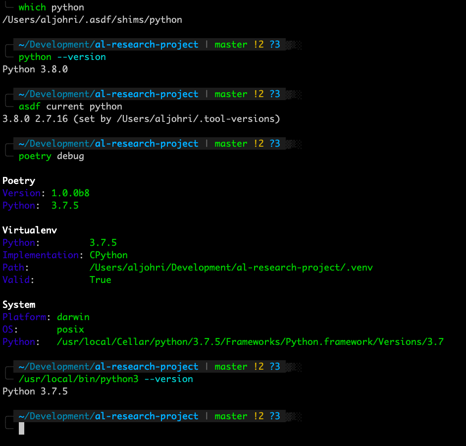 Poetry using the wrong Python version not related to pyenv ...