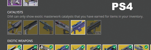 Completed Exotic Catalysts Not showing in Collection · Issue