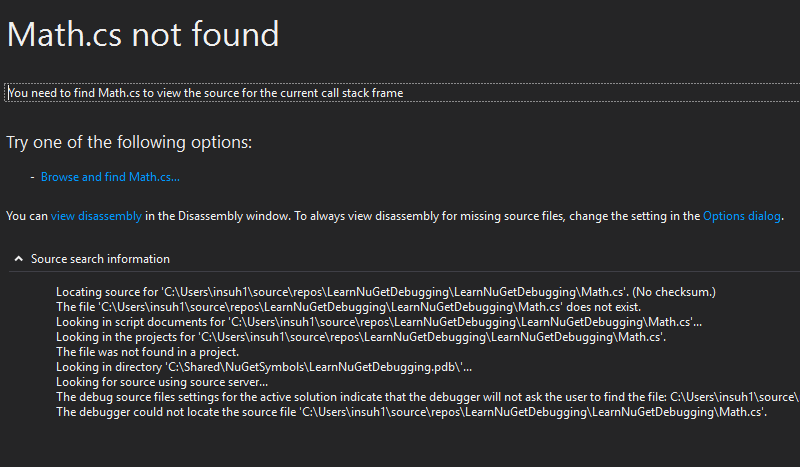 Improve NuGet package debugging and symbols experience · Issue #6104