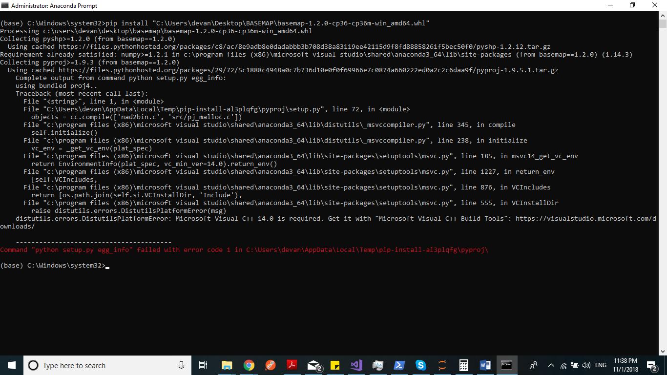 python install basemap pip