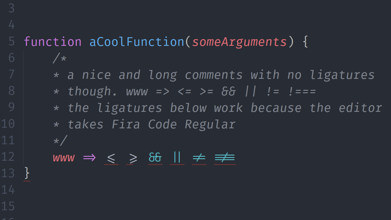 Italic variant out of a custom version of Fira Mono · Issue