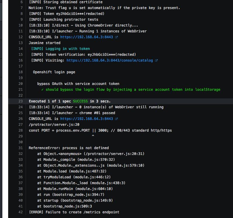 Strange process is not defined error, `/metrics` not setup