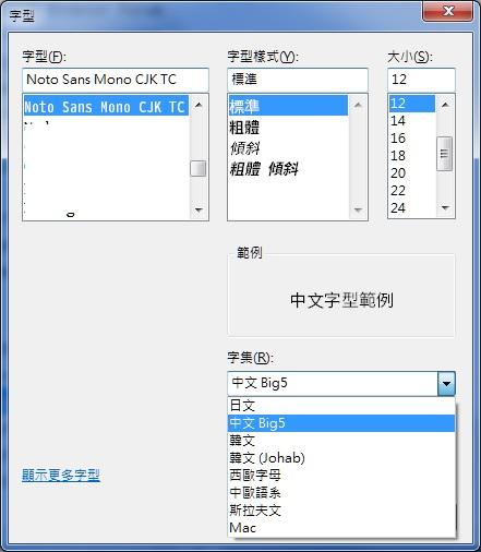 How to make Noto CJK TC fonts to UTF-8 encoding ? · Issue #117