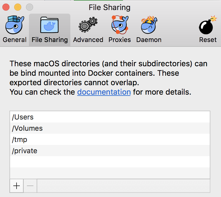 The path is not shared from OS X and is not known to Docker  · Issue